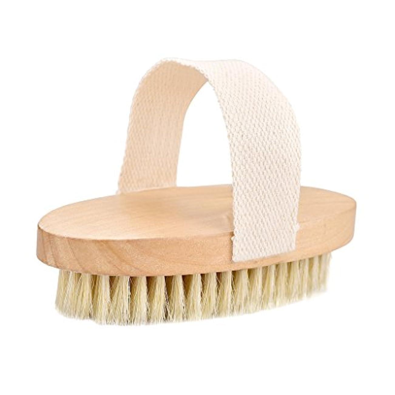 習熟度目指す窒息させるTumao ボディブラシ 豚毛 ソフト 背中 お風呂用 角質除去 全身マッサージ 血行促進 体洗いブラシ バスグッズ