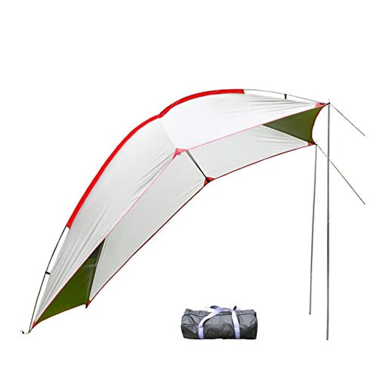 終点悲鳴みがきますタープ テント カーサイドタープ 車用 日よけ カーテント 設営簡単 単体使用可能 キャンプ テント アウトドア 公園 登山 車中泊 4色