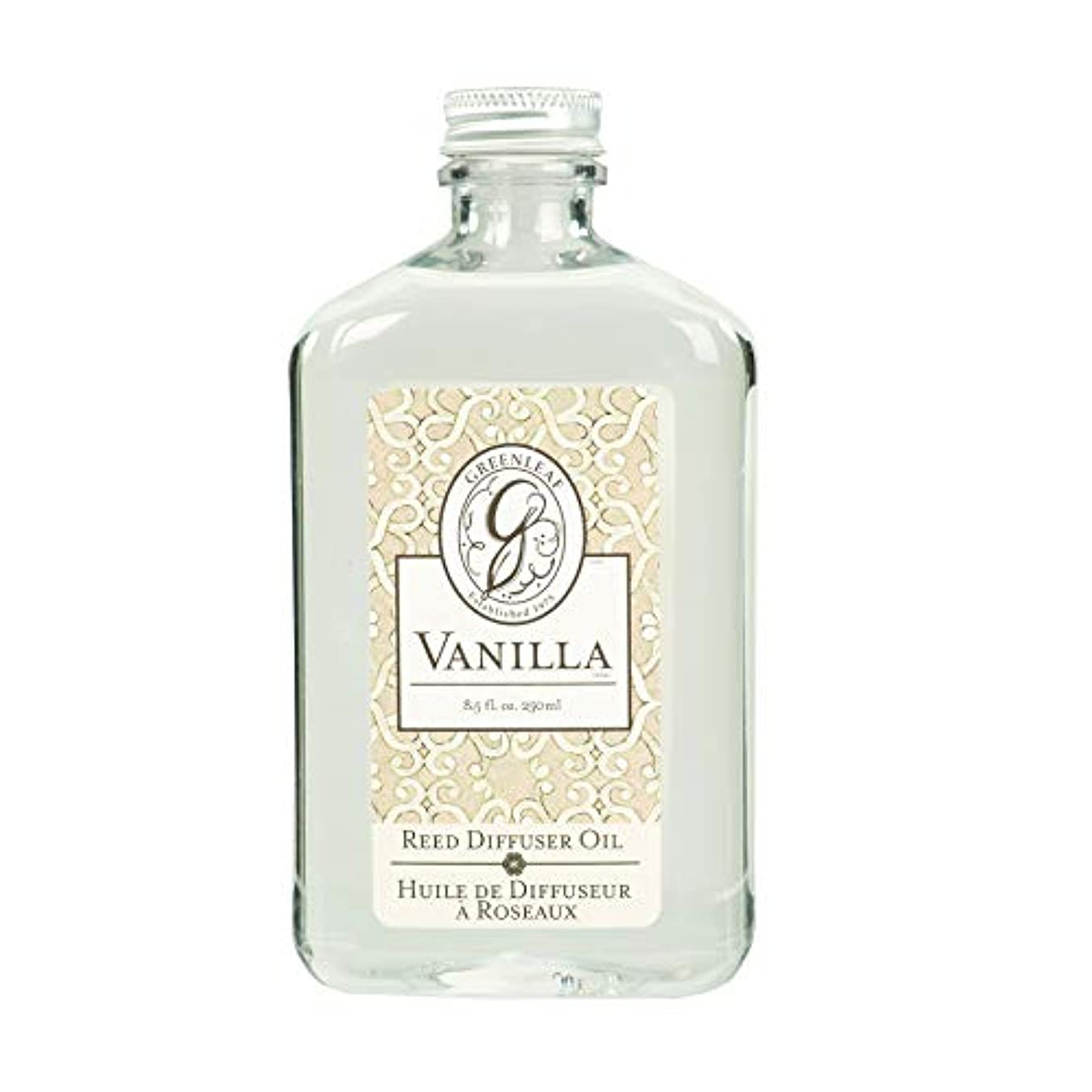 軽蔑するフリルつかむGREEN LEAF REED DIFFUSER OIL REFILL VANILLA