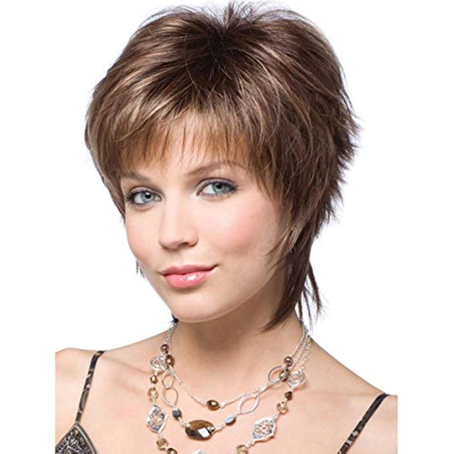遅れフォルダ父方のIntercoreyレディ女性ショートウェーブ合成金髪ショートウィッグ女性の髪のコスプレフルウィッグ