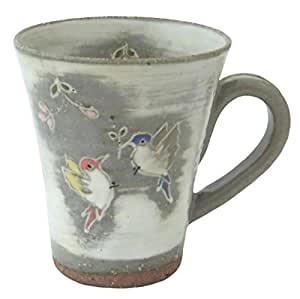 京焼 清水焼 関窯 マグカップ 羽ばたき D15-4