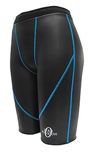 ゼロポジション プロフェッショナルハイウエスト ブラック ターコイズブルー 3S