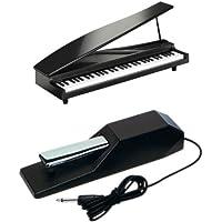 KORG MICROPIANO マイクロピアノ ミニ鍵盤61鍵 ブラック ペダルセット