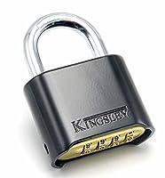 Kingsleyロック22l set-you-own組み合わせ南京錠、ダイキャスト ブラック 22L