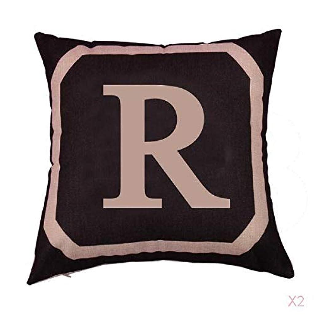 ご覧ください脇にスリーブ正方形の綿のリネンスローピローケース腰クッションカバーベッドソファ装飾rを