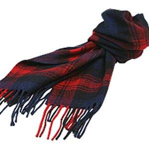 (ロキャロン) Lochcarron of scotland英国スコットランド製 ラムズウール100% タータンチェックマフラー 英国王室ご愛用 (マクラクラン)