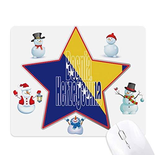 ボスニアヘルツェゴビナの旗の名前 クリスマス・雪人家族ゴムの...