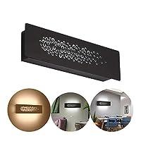 寝室ベッドサイドランプ長方形ledウォールランプクリエイティブデコレーションリビングルームの廊下8Wブラック