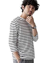 [ナノユニバース] Tシャツ Switching Border 七分袖 バスク カットソー メンズ