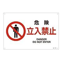 緑十字 JIS安全標識 JA-117 危険 立入禁止 L 391117
