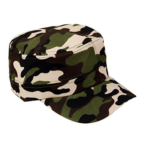 【ノーブランド 品】ポリエステル製 男女兼用 調節可能 帽子 野球帽 ハット  キャップ 迷彩 #1