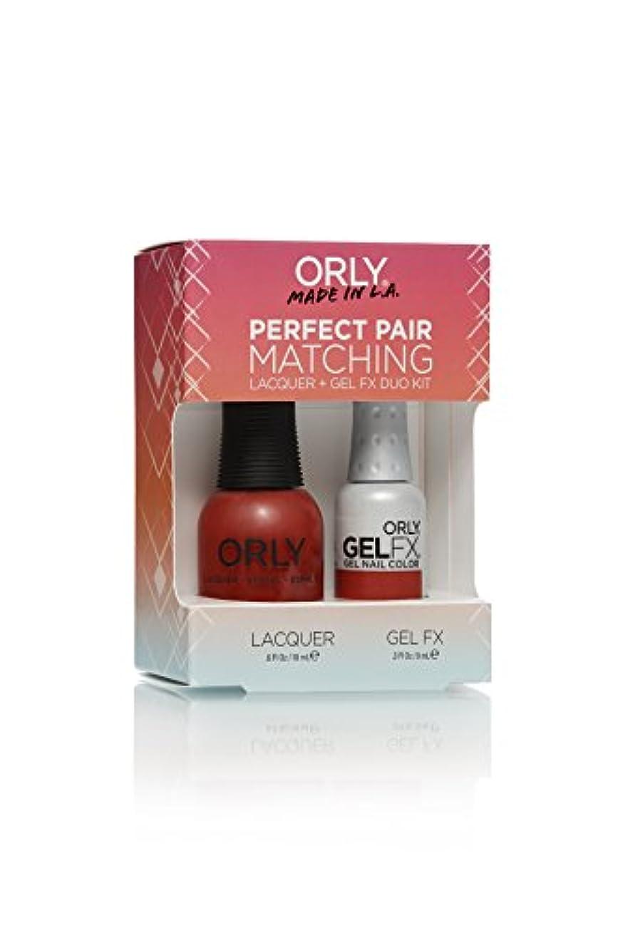 学部航海デコードするOrly Lacquer + Gel FX - Perfect Pair Matching DUO Kit - Haute Red