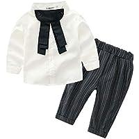 Milkiwai ベビー服 女の子 ブラウス ズボン長さ 上下セット 制服 おしゃれ size 90 (ホワイト)