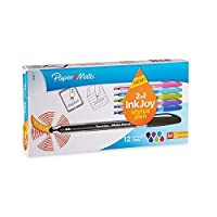 Paper Mate InkJoy 100stボールペンand Stylus, Medium Point, Assorted Colors、12カウント