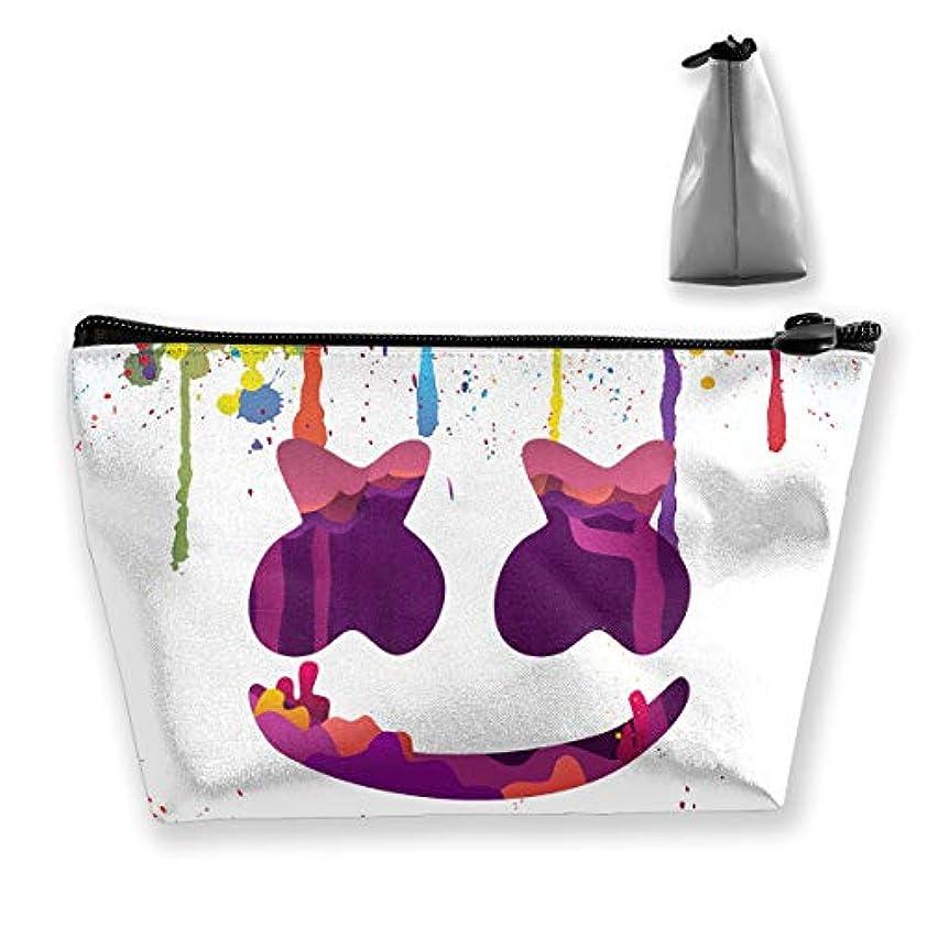 禁止するあいまい背骨Marshmello 台形 化粧ポーチ メイクポーチ コスメポーチ 化粧品収納 軽い 防水 便利 小物入れ 携帯便利 多機能 バッグ