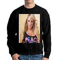 メンズ トップス スウェット Carrie Underwood メンズクルーネック長袖セーター、カジュアルパンツ、ジーンズ、スポーツシューズ、キャンバスシューズと一緒に着用できます、スウェット