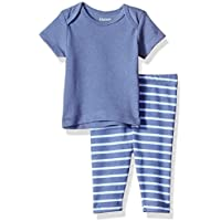 Hanes Ultimate Baby Baby Boys Flexy 2 Piece Set (Pant with Short Sleeve Crew Tee)