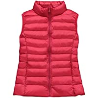 Macondoo Womens Warm Coat Sleeveless Cotton-Padded Quilted Down Vest