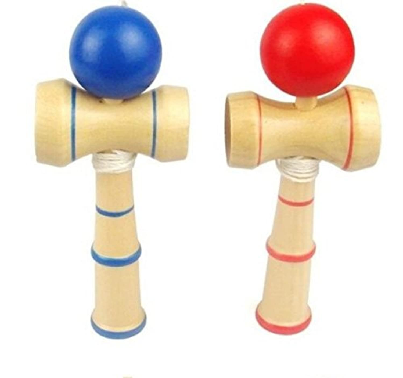 幼児期のゲーム パズル木製古典的な伝統的な技術ボール剣のおもちゃ(色ランダム)