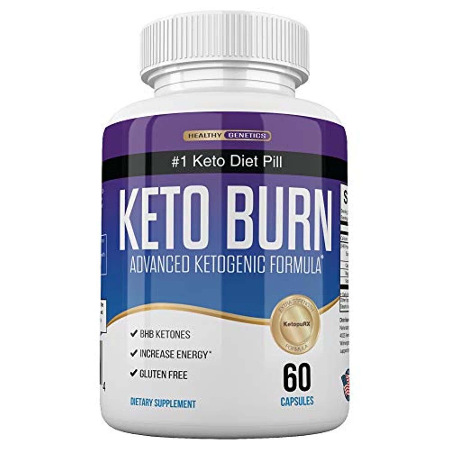 容量セラー赤道Healthy Genetics ナンバーワン ケトジェニック ダイエット KETO BURN 燃焼系 サプリ 60粒/30日分 [海外直送品]