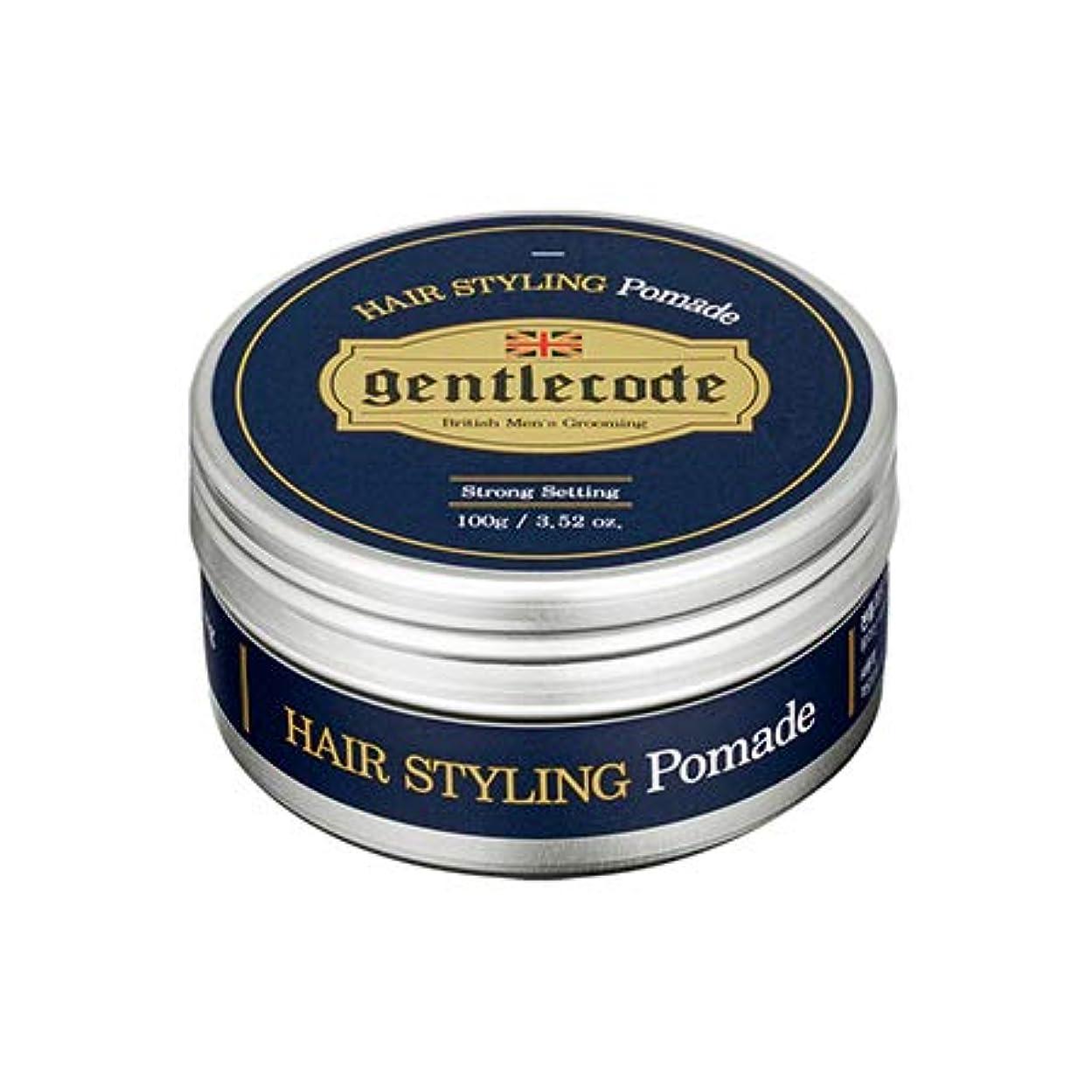 ピン調整するピーク【ジェントルコード.gentle code]ヘアスタイリングポマード(100ml)/ hair styling pomade