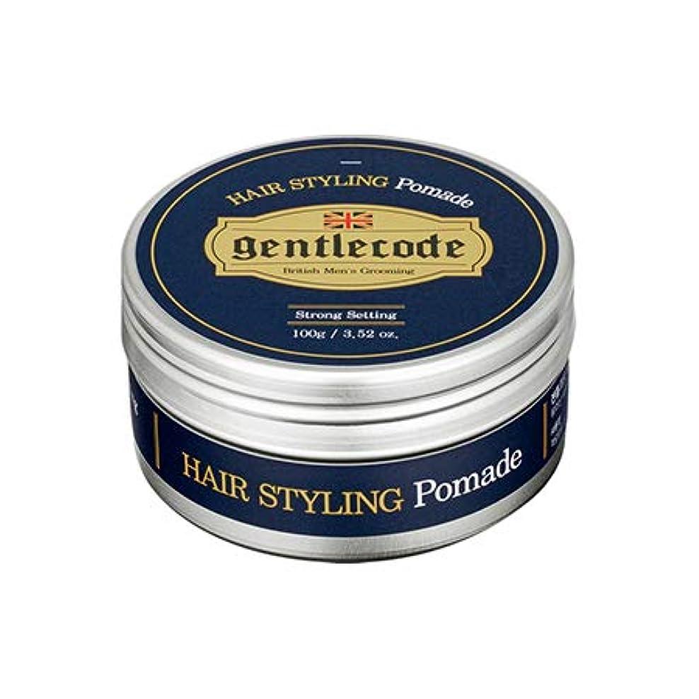 巨大平均周波数【ジェントルコード.gentle code]ヘアスタイリングポマード(100ml)/ hair styling pomade