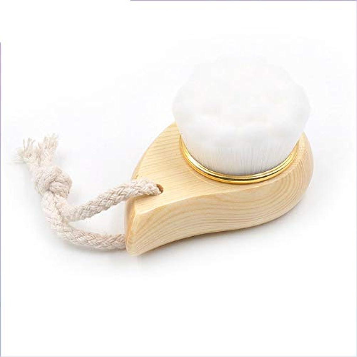 わかりやすい掃くベット洗顔ブラシ フェイシャルボビークレンジングブラシマニュアルフェイススキンクレンザーウォッシュブラシ ディープクレンジングスキンケア用