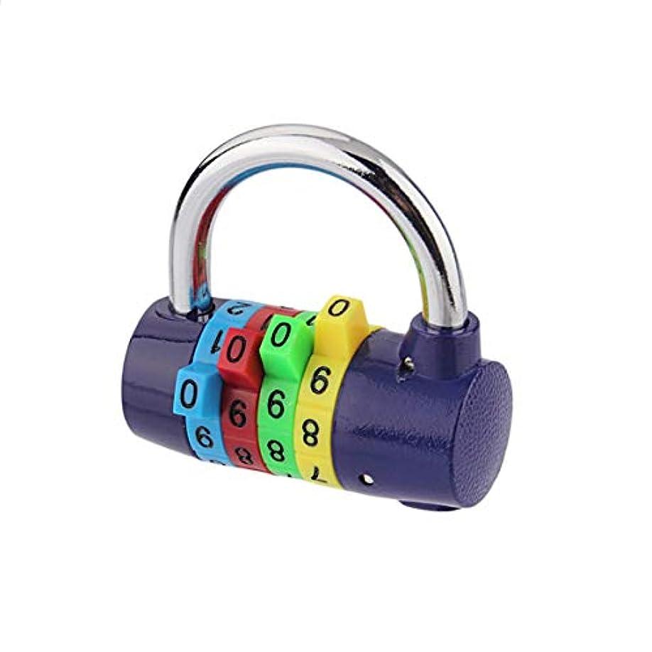 口散文時間厳守Tivollyff カラー4南京錠ジムパスワードロック盗難防止ワードローブロック150 G多色