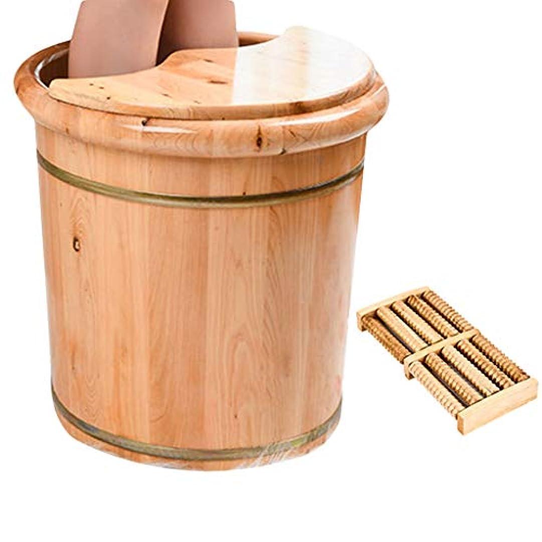 移行する不十分人生を作るフットマッサージFußbadekübel足湯バケツサウナ用浴槽のフットバスも大規模な木材の世帯足をリラックス