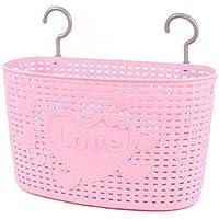 33 CM愛の多目的プラスチック貯蔵バスケット家庭用オーガナイザー、ピンク