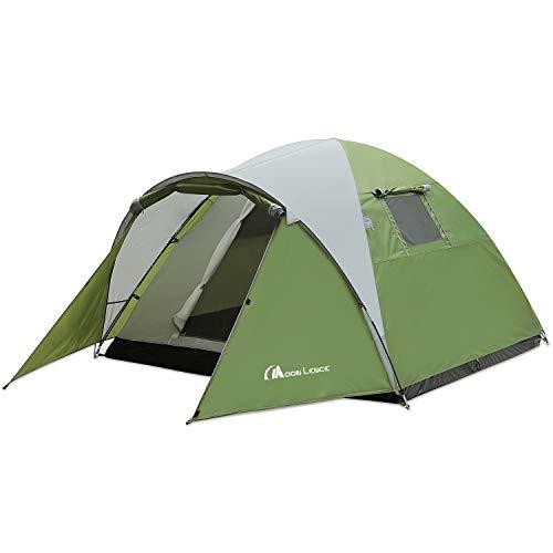 Moon Lence テント アウトドア用 3~4人用 登山 キャンプ 前室あり 組立簡単 二層構造 通気 防雨・防風・防災 UVカット