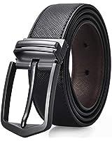 NEWHEY ベルト メンズ 革 ビジネス サイズ調整可能 リバーシブル ピンバックル ファッション 紳士ベルト レザー 大きいサイズ 穴あけ 通勤通学 箱付き プレゼント 茶色 黒 115cm カラー3