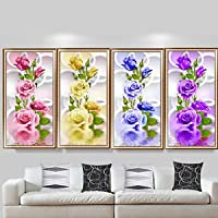diy 5d rose diamond embroidery painting flower cross stitch home