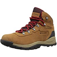 Columbia Women's Newton Ridge Plus Waterproof Amped Hiking Boot, Elk, Mountain Red