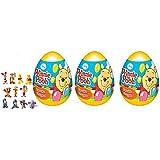 [RusToy] 3匹の卵の驚きのディズニー貝殻のカプセルのイースターのプーさんの誕生日のお菓子のおもちゃの賛成のケーキのトッパー egg surprise disney Winnie the Pooh