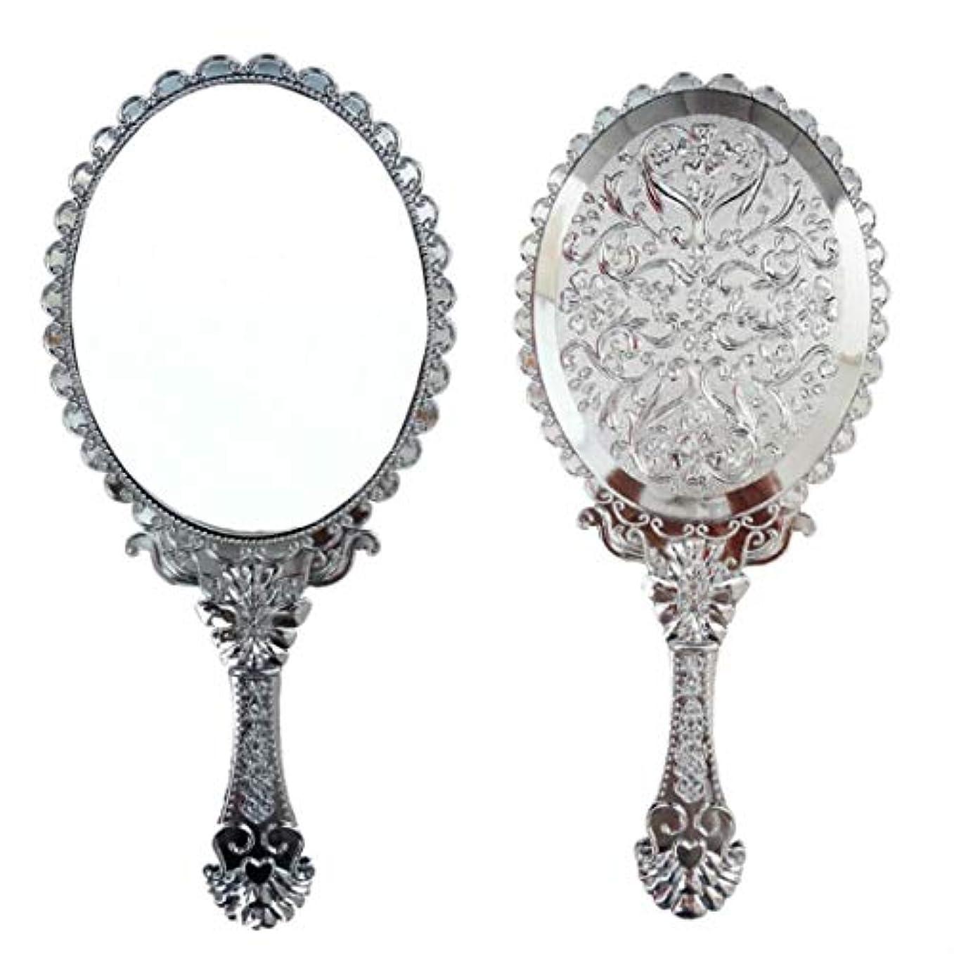 いらいらさせる火星百万送料無料 トゥインクル 楕円の鏡 メイク ポーチ 化粧 ミラー 手鏡 姫系ハンドミラー シルバー