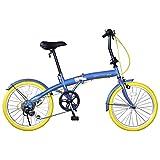 チャクル(CHACLE) Prier(プリエ) エアレスタイヤ 絶対にパンクしない フォールディングバイク 20インチ 外装6段変速仕様 FDR-CC206PR コスミックレモン