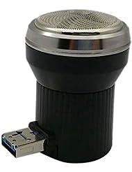 Rakuby メンズ ポータブル USB電源 使用 電気ひげ剃り シェーバー ビアーズクリッパー シェイプマシン