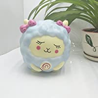 nomsocrジャンボSlow Rising Squishy香りつきStress Relief Pretty SheepおもちゃソフトSqueeze Decompressionギフトforキッズと大人 13x12x12cm ブルー MM464