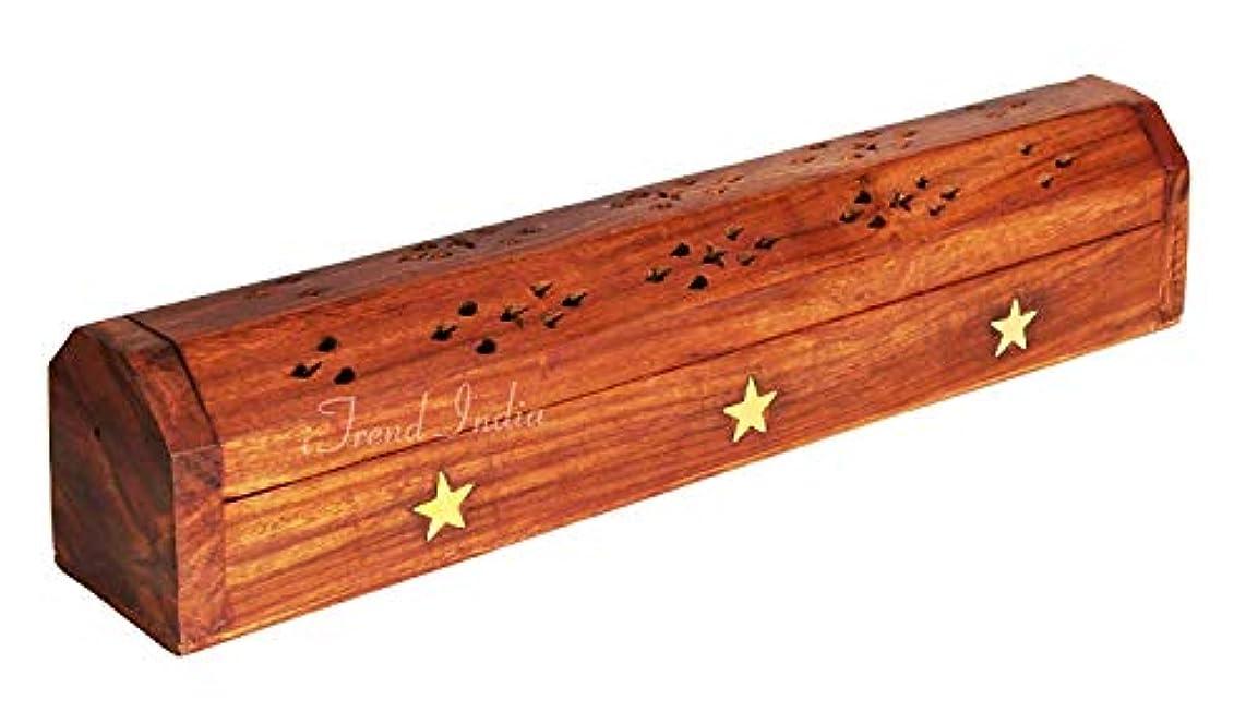 強制豪華な根拠iTrend India Hand-made Wooden Incense Holder