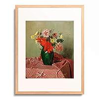 フェリックス・ヴァロットン Felix Edouard Vallotton 「Roses and dahlias」 額装アート作品