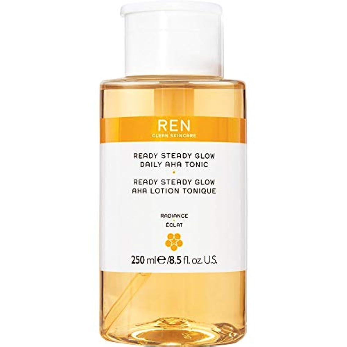唯一落ちた形容詞[REN] 準備ができて安定したグロー毎日Ahaの強壮剤の250ミリリットルをRen - REN Ready Steady Glow Daily AHA Tonic 250ml [並行輸入品]