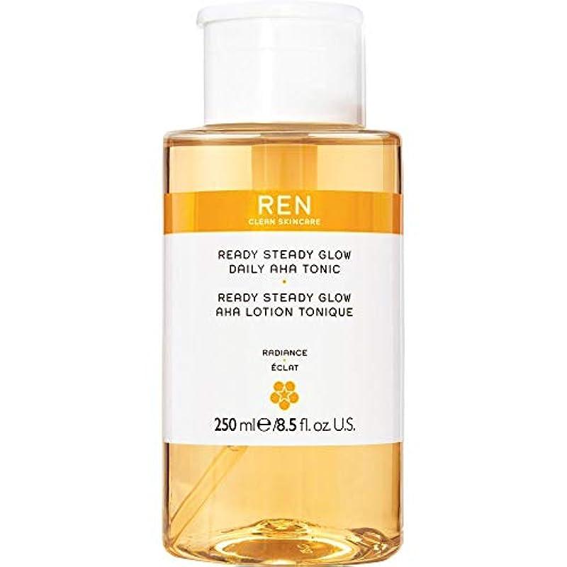 霜ライムバルク[REN] 準備ができて安定したグロー毎日Ahaの強壮剤の250ミリリットルをRen - REN Ready Steady Glow Daily AHA Tonic 250ml [並行輸入品]