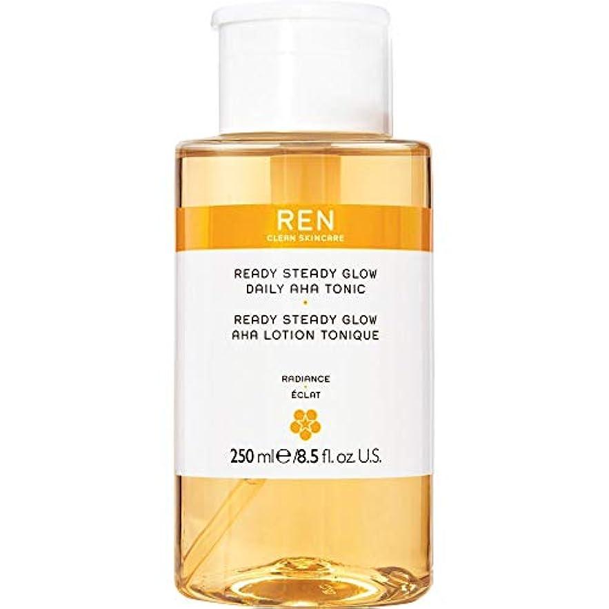 インタフェース氏反抗[REN] 準備ができて安定したグロー毎日Ahaの強壮剤の250ミリリットルをRen - REN Ready Steady Glow Daily AHA Tonic 250ml [並行輸入品]