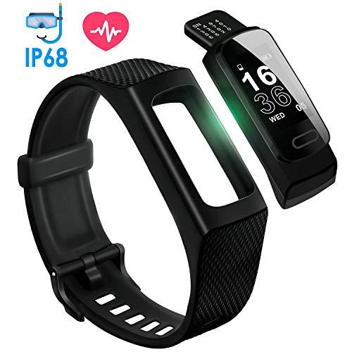 【最新版】4UMOR スマートウォッチ IP68防水 GPS スマートブレスレット 着信/G-mail/Line通知