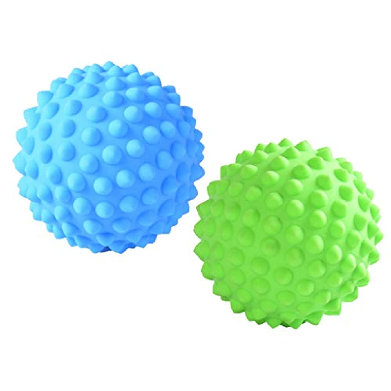 ビーズ平凡製造Fenteer マッサージローラーボール マッサージローラー 指圧ボール トリガーポイント 筋膜リリース 2個入