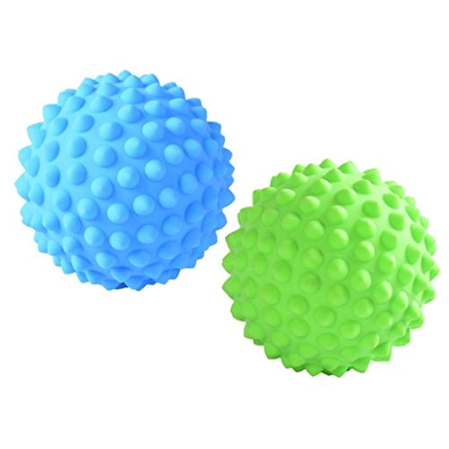 より平らなアセボンドFenteer マッサージローラーボール マッサージローラー 指圧ボール トリガーポイント 筋膜リリース 2個入