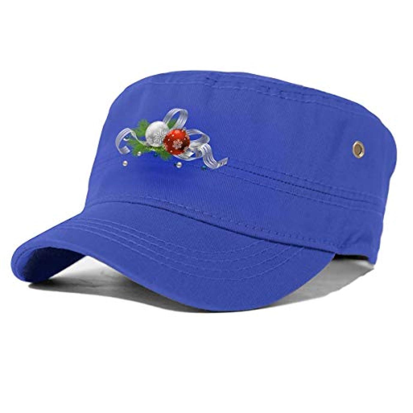 意識香ばしいストレッチ大人のフラットキャップ帽子曲げる綿男女通用 Essential Oil Christmas Tree Blue