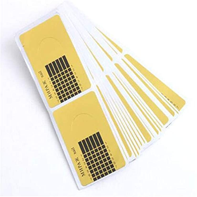 目指す忠実に不道徳Wadachikis 信頼性デザイン100個新しいコンセプトゴールド昆虫タイプ指トリートメント爪サポートクリスタル特殊ホルダー(None golden)