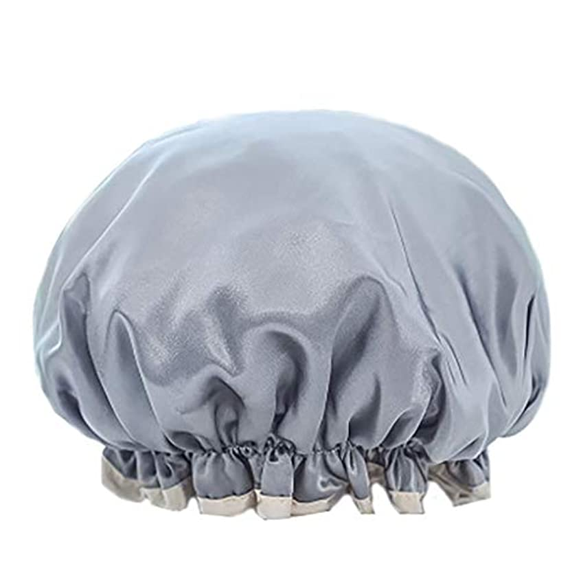 メガロポリス巡礼者限りMaltose 化粧帽 ダブル防水シャワーキャップ ふわふわ柔軟 色落ちしない 2枚セット